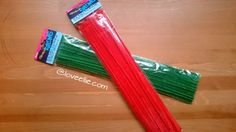Pipecleaners - red or green chenille stems - perfect for Christmas crafting and decorating reindeer antlers etc by LoveEllieBagMaking Find it now at http://ift.tt/2h2IkS0!