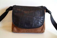 Vintage GOLD PFEIL real Leather Shoulder Bag. by vintagdesign