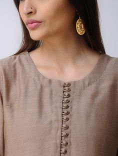Brown Chanderi Kurta