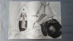 PENCIL/GRAPHITE TONAL STILL-LIFE STUDY