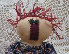 JeenieAnn A Primitive Rag Doll by ButtonsInTheAttic on Etsy, $18.95