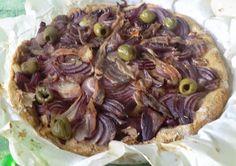 Ma petite cuisine gourmande sans gluten ni lactose: Pissaladière aux oignons rouges express aux farines de sarrasin et avoine sans gluten ni lactose