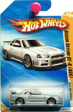 Nissan Skyline GT-R R34 Hot Wheels 2010 New Models #07/44 Silver #HotWheels #Nissan