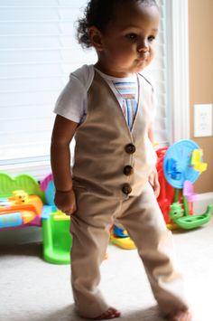 BAH! Little man vest/tie out of a onsie, with matchy comfy pants!  So cute!
