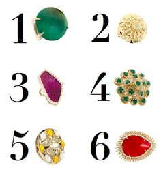 cocktail candy - statement rings to bring a little color and sparkle to an outfit