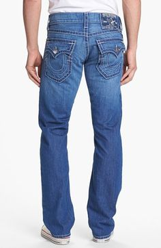 True Religion Brand Jeans 'Ricky' Straight Leg Jeans (Voyager) available at #Nordstrom