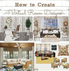 how to create virtual room designs using Olioboard...
