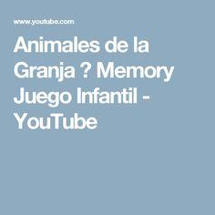 Animales de la Granja 🐔 Memory Juego Infantil - YouTube
