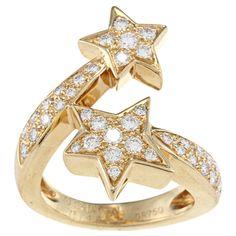 Chanel:) 18k Yellow Gold 1 1/3ct TDW Diamond Comete by Chanel Ring (G-H, VS1-VS2)