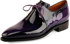 Corthay Arca Patent Leather Shoe, Purple