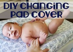 DIY Changing Pad Cover - This is more fitted than the other tutorials I've seen, and I'd prefer that.