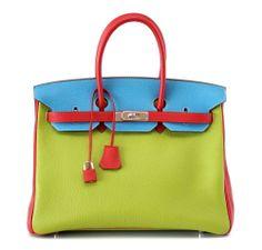 Hermes Tricolor Birkin Bag in Vert, Anis, Rouge Garrance Blue Jean Hermes Bags, Hermes Handbags, Hermes Birkin, Fashion Handbags, Fashion Bags, Fashion Accessories, Style Fashion, Hermes Purse, Luxury Handbags
