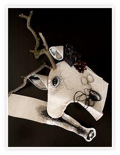 DEER HEAD by Nadya Sheremet, via Behance