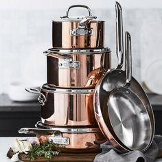 Williams-Sonoma Professional Copper 10-Piece Cookware Set | Williams-Sonoma
