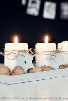New takes on the traditional Advent Wreath. Celebrate Christmas with a new tradition and make your own DIY Advent wreath. Christmas Advent Wreath, Decoration Christmas, Christmas Mood, Noel Christmas, Scandinavian Christmas, Xmas Decorations, Advent Wreaths, Handmade Christmas, Christmas Candles