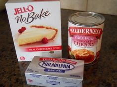 **Jell-o No Bake Mix with Cream Cheese Added*** Better than just mix on its own as its not cheesey enough**