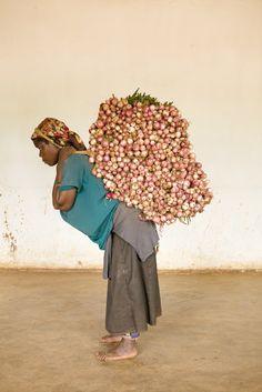 Congo. Carrier Women by François Vaxelaire & Eliane Beeson