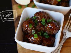Paleo Glazed Turkey Meatballs - Once A Month Meals