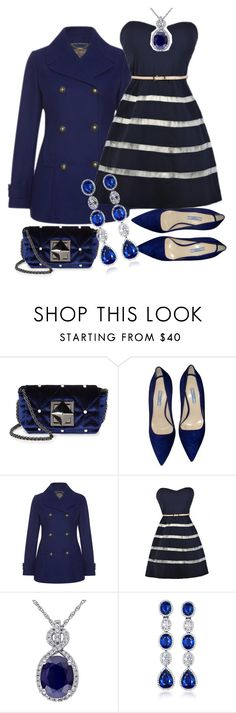 """""""in the navy"""" by the-pug-life ❤ liked on Polyvore featuring Sonia Rykiel, Prada, Laura Ashley and VanLeles"""
