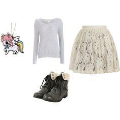 Lace Skirt, Unicorn Necklace, etc.