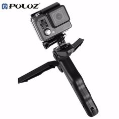 PULUZ Hand Held Digital Cameras Folding Tripod Folding Table-top for GoPro HERO 5 4 3+ 3 2 1 Accessories For Mobile Phone DSLR