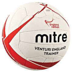 England Netball approved, the Mitre Venturi England Trainer Netball is an official replica match ball. Laminated rubber construction with a unique diamond embossed surface for added grip and surer handling.