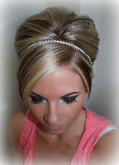 Rhinestone Headband bridal wedding headband bridal by BrassLotus