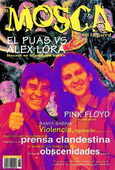 """La famosa portada del """"Puas"""" Olivares y Alejandro Lora en el No. 2 de La Mosca (abril de 1994)."""