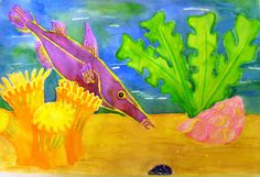 watercolor fish projects kids | Learn to Teach.Teach to Learn.: Watercolor Resist Fish - Kindergarten