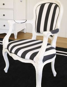Chair bold stripes
