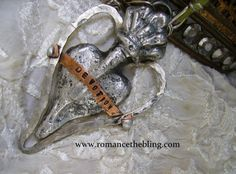 Ex Voto Casted Forged Heart, Molten Butterfly Neck and Earrings 134