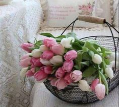 Flowers For You, Types Of Flowers, Spring Flowers, Pink Tulips, Xmas Decorations, Floral Wreath, Wreaths, Laundry, Boards