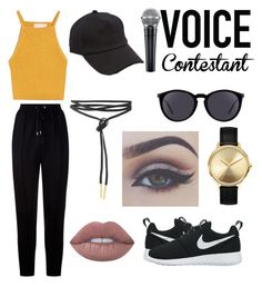 """Untitled #8"" by danichavvv ❤ liked on Polyvore featuring Givenchy, NIKE, Nixon, Yves Saint Laurent, rag & bone, Bellezza, Lime Crime, thevoice and YahooView"