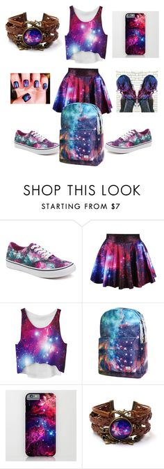 """In a galaxy far far away"" by ella-rharper ❤ liked on Polyvore featuring Vans"