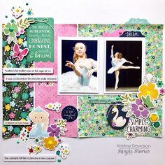 Simply Charming - Simple Stories - Little Princess Collection Cute Princess, Little Princess, Bright Flowers, Small Flowers, Glitter Girl, Princess Collection, Photo Memories, Simple Stories, My Scrapbook