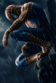 """A fantastic poster from the Marvel Comics movie Spider-man Peter Parker as the symbiote Venom! Check out the rest of our amazing selection of Spider-Man posters - the best on the """"web""""! Need Poster Mounts. Black Spiderman, Spiderman 3 2007, Spiderman Sam Raimi, Spiderman Noir, Spiderman Kunst, Amazing Spiderman, Spiderman Poster, Marvel Dc, Marvel Comics"""