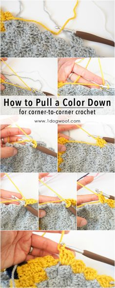 How to bring a yarn color down to where you need it in corner to corner c2c crochet