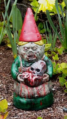 ZOMBIE GARDEN GNOME Mrs Dead  PreOrders by dougfx on Etsy, $49.00