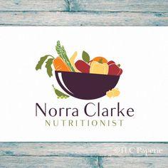 Nutritionist Logo Design Custom Logo Vegetables Logo