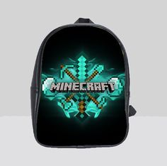 Large Backpack Bag Minecraft Creeper Pre-School Kindergarten ...