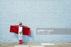 Boy dressed as a superhero