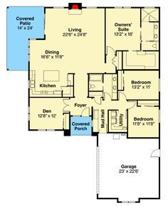 Modern Prairie Style House Plan with 3 Beds - 72866DA   Architectural Designs - House Plans