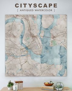 Map of Charleston, large canvas, city maps, watercolor map, vintage map, antique map, city maps, map art, city map art, wall art, map decor