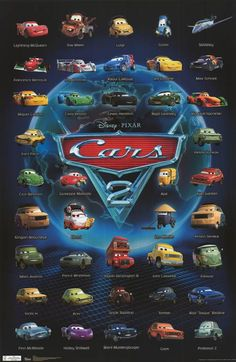 Characters Cars 2: names and photos