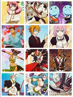 The twelve Zodiac gate key spirits!(: Lucy's gate keys and spirits, as a matter of fact!(: she is an awesome Celestial Spirit Mage!(: Fairy Tail. :)