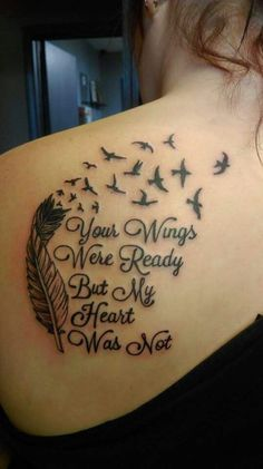 """Your Wings Were Ready But My Heart Was Not"" Beautiful line ♥:"