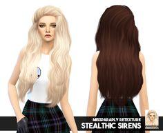 Sims 4 hairs miss paraply: stealthic`s sirens solid hair ret Sims 4 Teen, Sims Four, My Sims, Sims Cc, High Level, Free Sims 4, Mod Hair, Sims 4 Cc Packs, Sims 4 Update