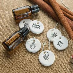 Adding a personal touch to your presents has never been easier than with these do-it-yourself aromatherapy salt dough ornaments and gift tags.