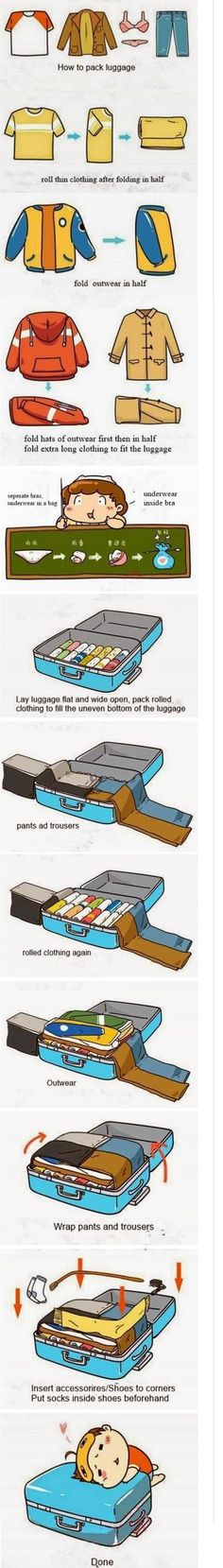 How to pack luggage