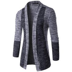 New Arrival Men Long Sleeve Cardigan Robe Sweater Slim Casual Sweater Patchwork Fashion Pattern Design